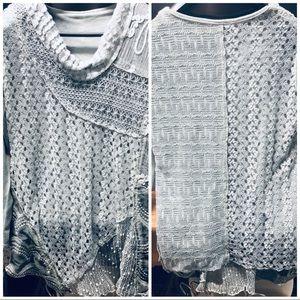 Boho layered sweater